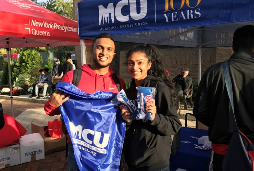 MCU Giveaways to St. John's Student