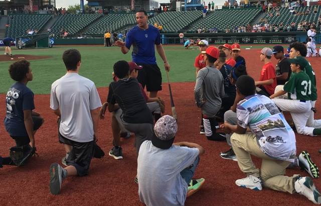 Second Youth Baseball Clinic – Taking a Knee