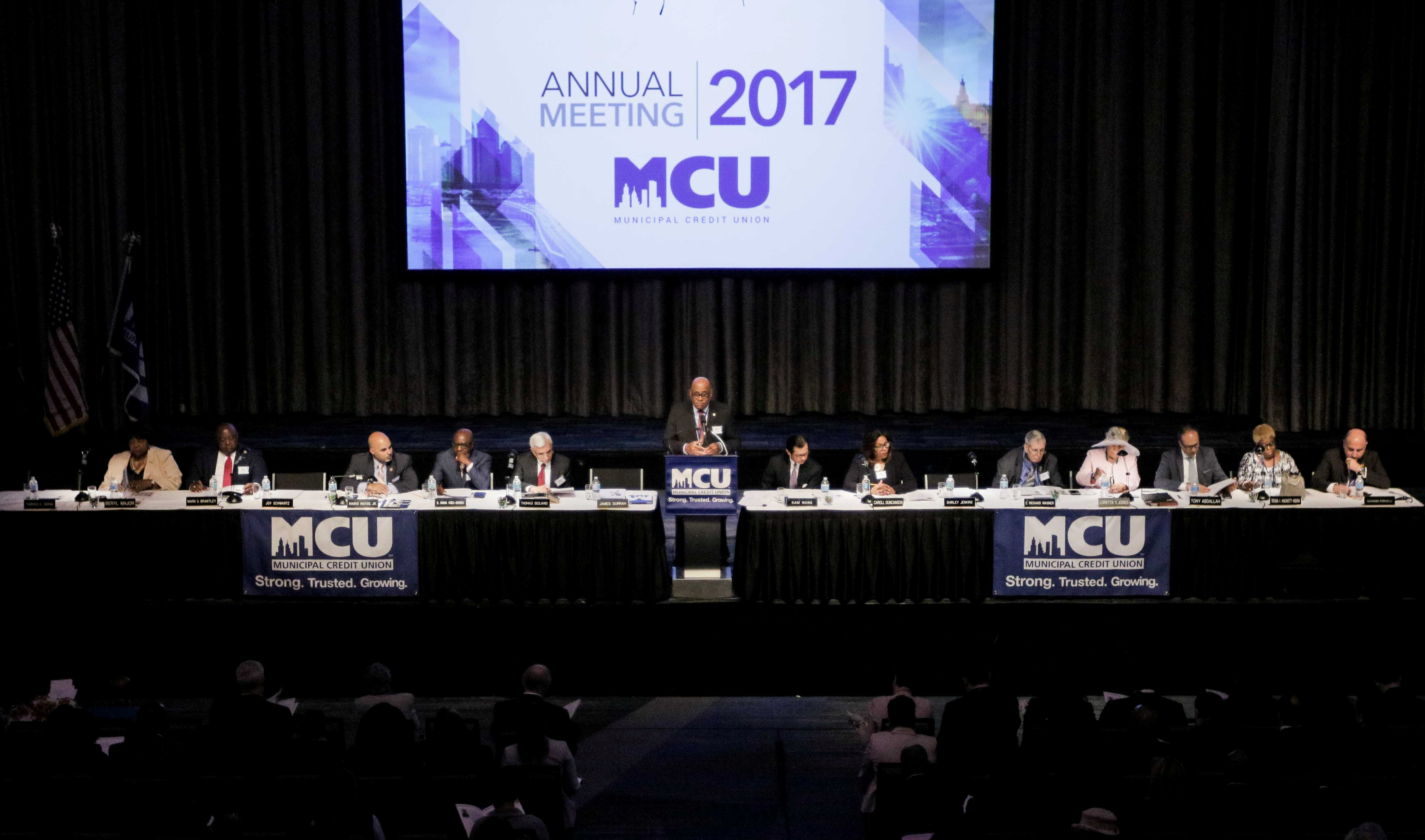 MCU's 2017 annual meeting was held on May 10, 2017 at the New York Hilton Midtown Manhattan Hotel